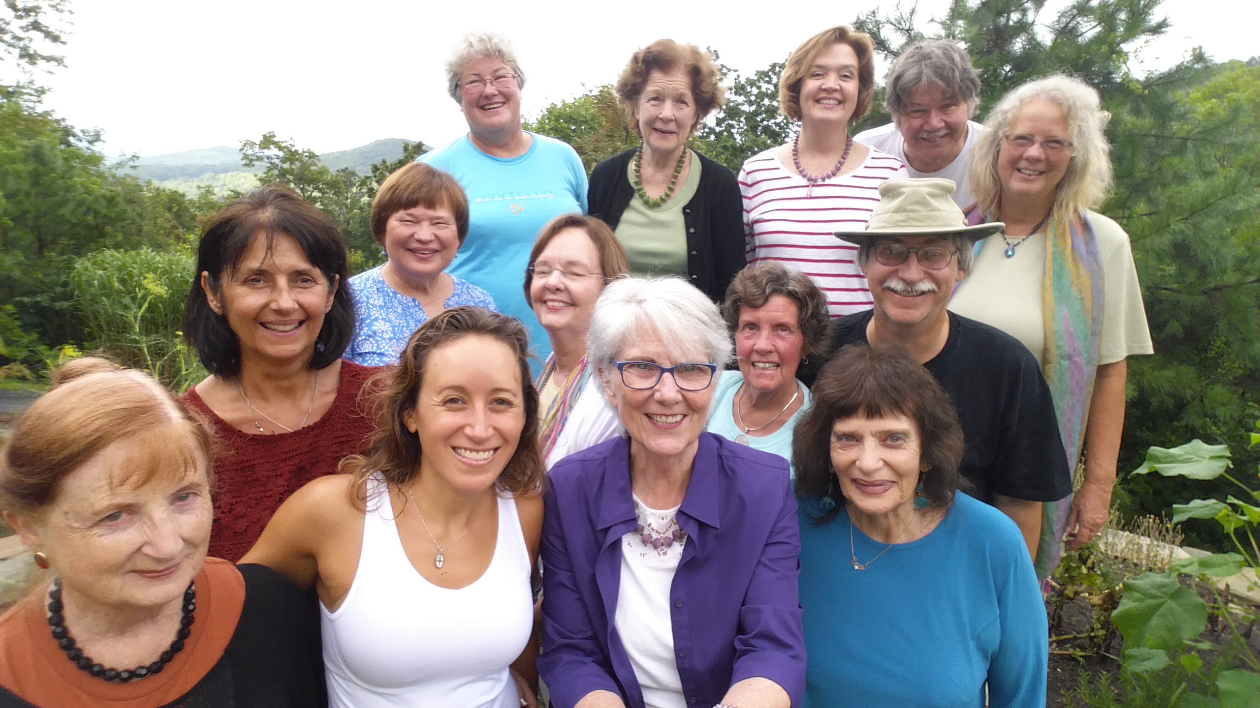 Connie with her 2016 Summer Retreat Workshop Participants