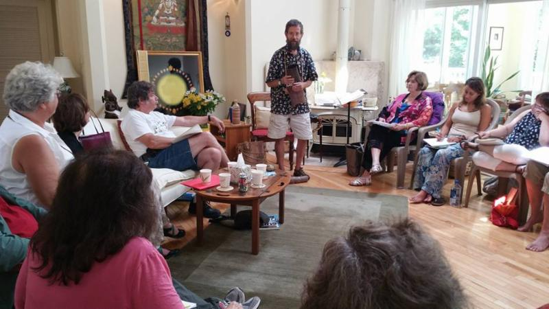 Doug Elliot gives a 'mini-workshop' at Connie's 2016 Summer Retreat